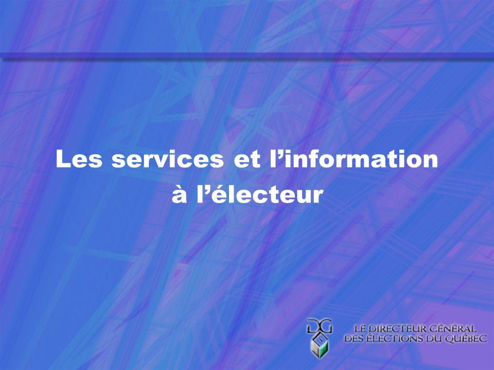 Les services et linformation à lélecteur