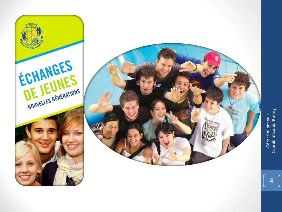 Cibler les jeunes à inviter PROMOTION CROISEE DES PROGRAMMES + MENTORAT PAR DES ROTAR(act)IENS 25 Gérard Allonneau Coordinateur du Rotary