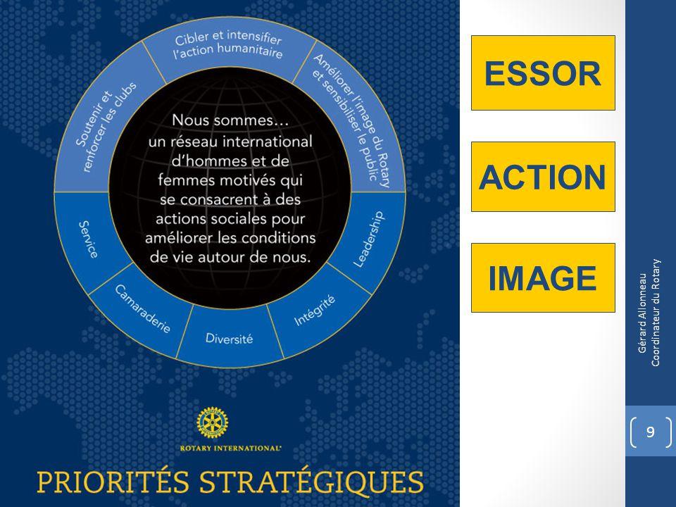 Objectifs stratégiques 2012-2013 10 Garder les jeunes dans la famille Rotary Préparer lavenir du Rotary Recruter de nouveaux membres Gérard Allonneau Coordinateur du Rotary