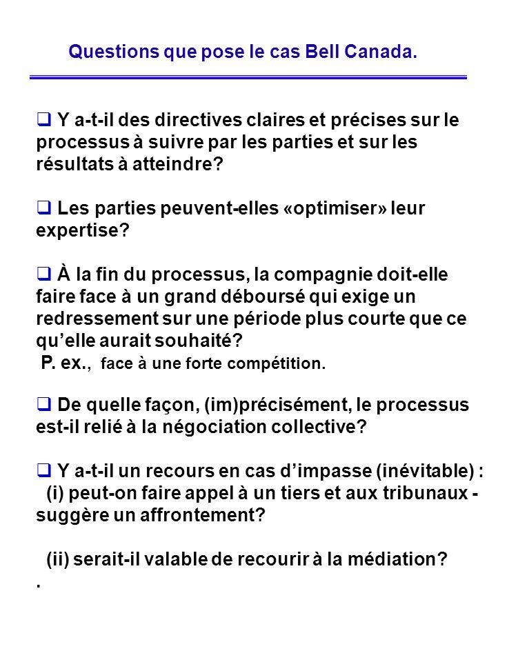 Y a-t-il des directives claires et précises sur le processus à suivre par les parties et sur les résultats à atteindre? Les parties peuvent-elles «opt