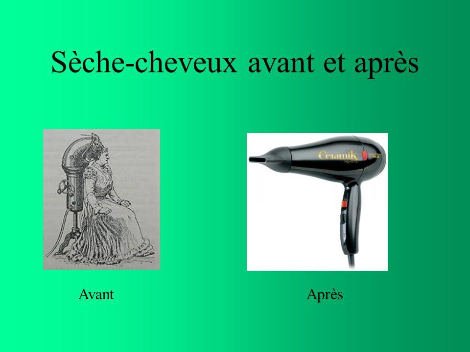Sèche-cheveux avant et après AvantAprès