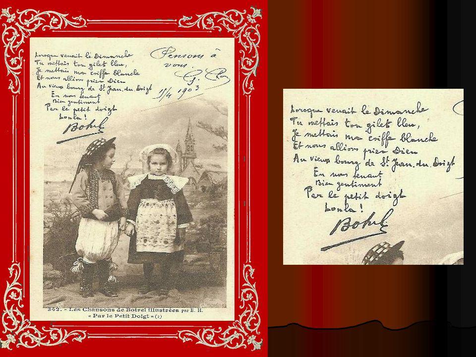 PAR LE PETIT DOIGT Chanson de Théodore Botrel quillustrent les huit cartes suivantes Théodore Botrel et Madeleine Renaud