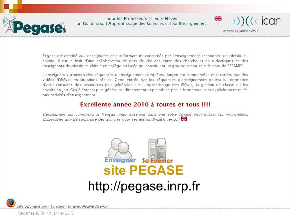 Sésames IUFM 19 janvier 2010 Les ressources disponibles Les documents destinés aux élèves - Partie n (activités)- Exercices de la partie n Les documen