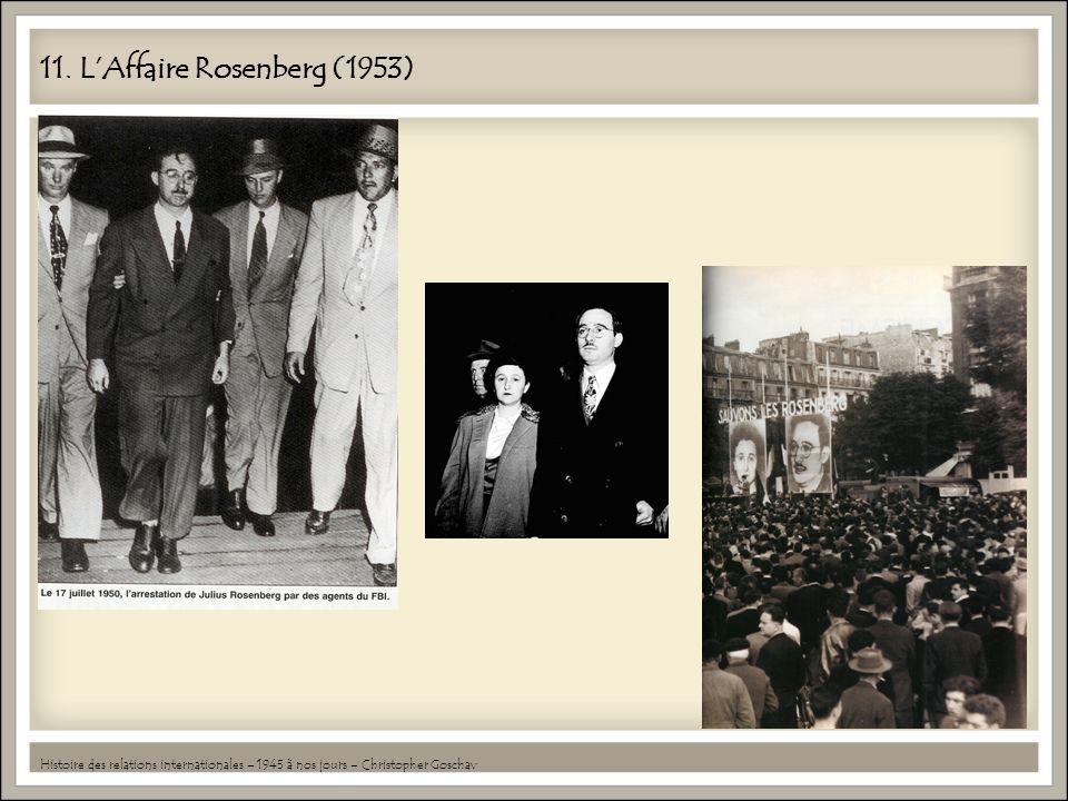 11. LAffaire Rosenberg (1953) Histoire des relations internationales – 1945 à nos jours – Christopher Goschav