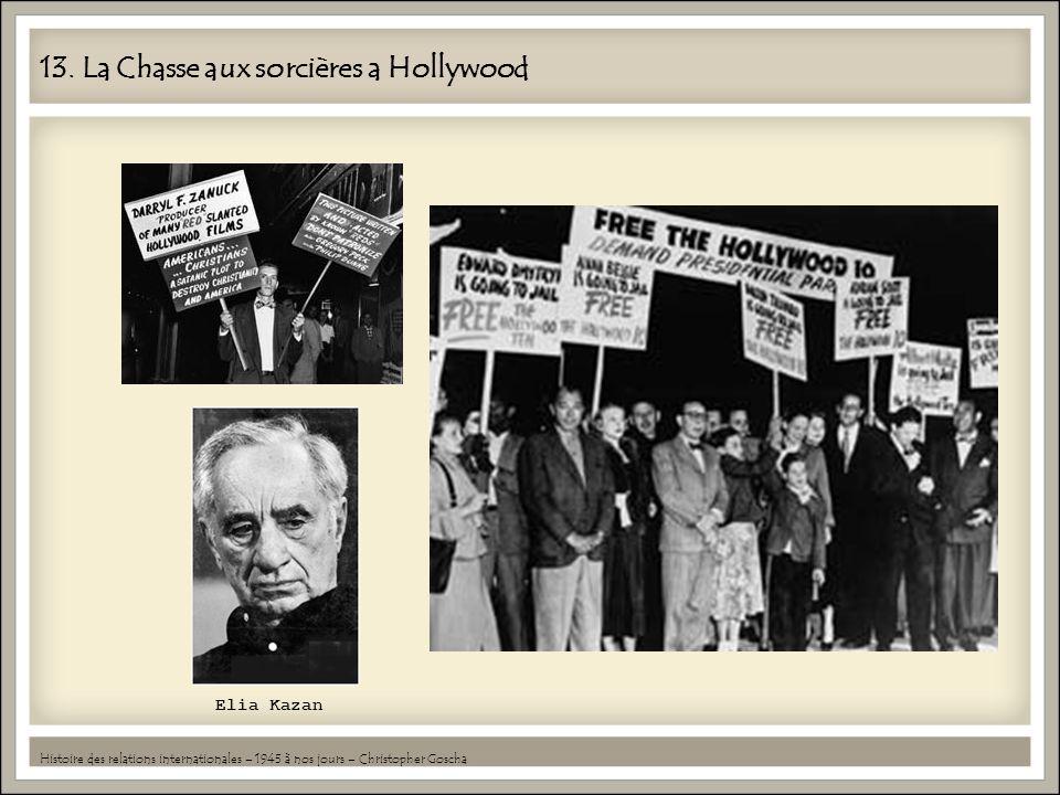 13. La Chasse aux sorcières a Hollywood Histoire des relations internationales – 1945 à nos jours – Christopher Goscha Elia Kazan