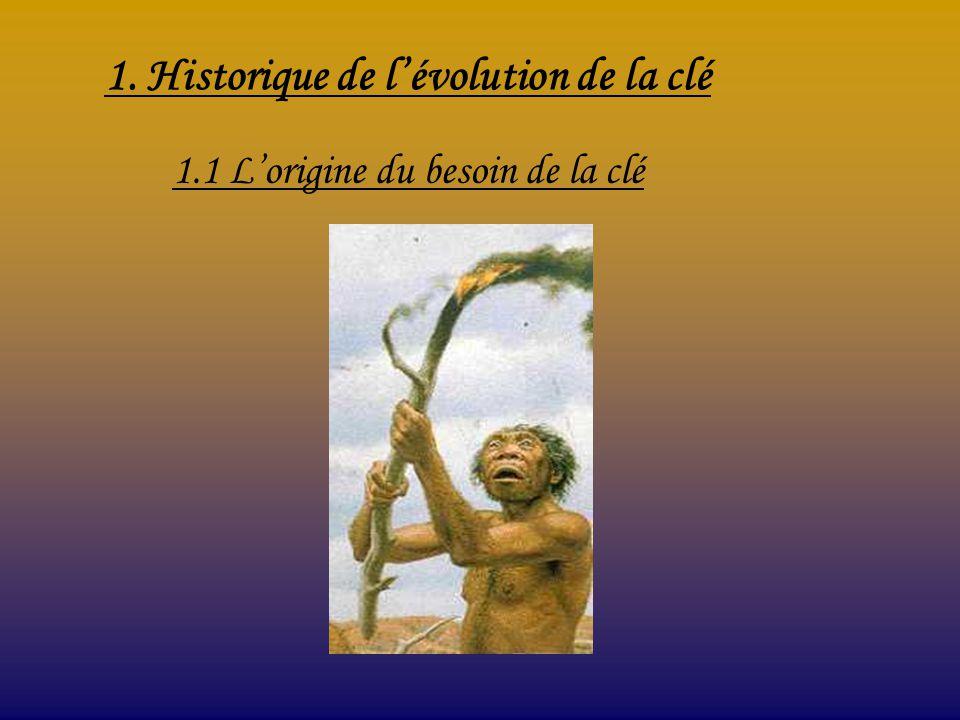 1. Historique de lévolution de la clé 1.1 Lorigine du besoin de la clé