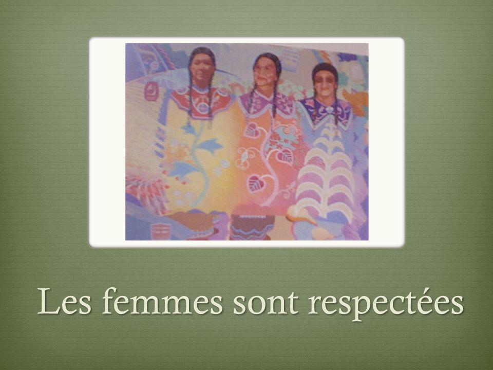 Les femmes sont respectées