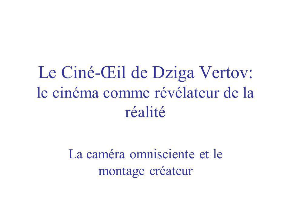 Le Ciné-Œil de Dziga Vertov: le cinéma comme révélateur de la réalité La caméra omnisciente et le montage créateur