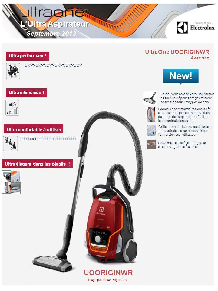 UltraOne UOORIGINWR Avec sac Rouge pastèque High Gloss LUltra Aspirateur UOORIGINWR Ultra performant .