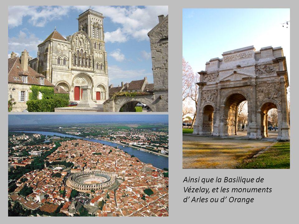 37 sites Français classés dont : Mont Saint Michel, le centre historique dAvignon les Rives de la Seine à Paris et le Val de Loire………