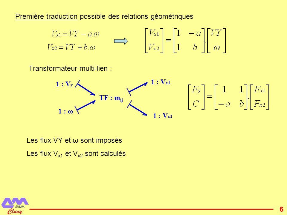 7 1 : V x1 1 : V x2 1 : V y 1 : ω TF : m ij I : J I : M Se:Mg R:b 1 R:b 2 C:1/K 1 C:1/K 2