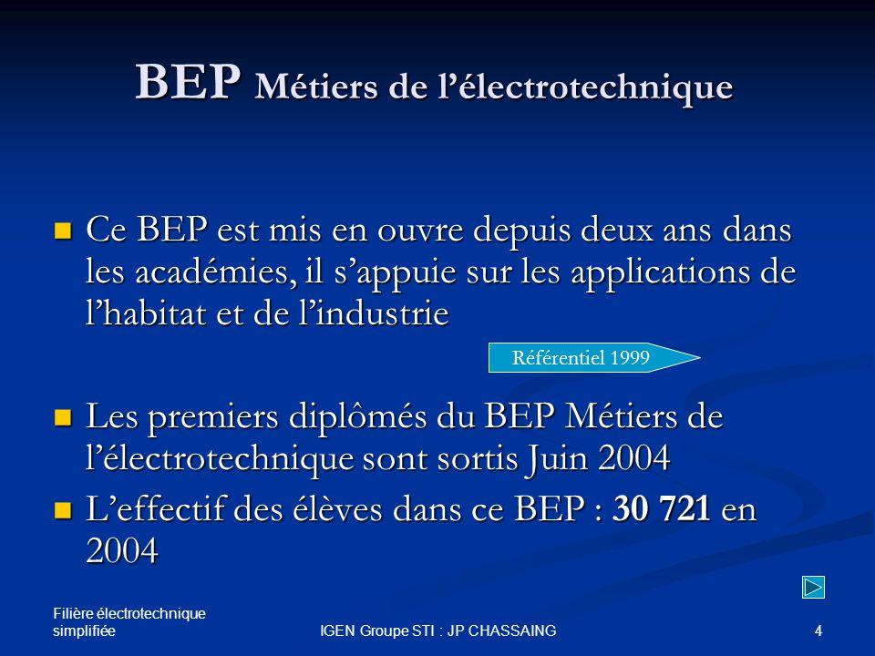 Séminaire du 22 novembre 2004 IGEN / Chauvin et Arnoux - au Paris CERPET et Deauville Baccalauréats technologiques « génie électrotechnique » et « génie énergétique » pour une migration vers la série : Effectifs actuels concernés : 29 353 élèves retour le Séminaire