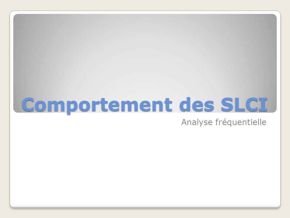 Comportement des SLCI Analyse fréquentielle