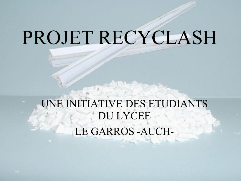 PROJET RECYCLASH lycée Le GARROS -AUCH S INSTALLER