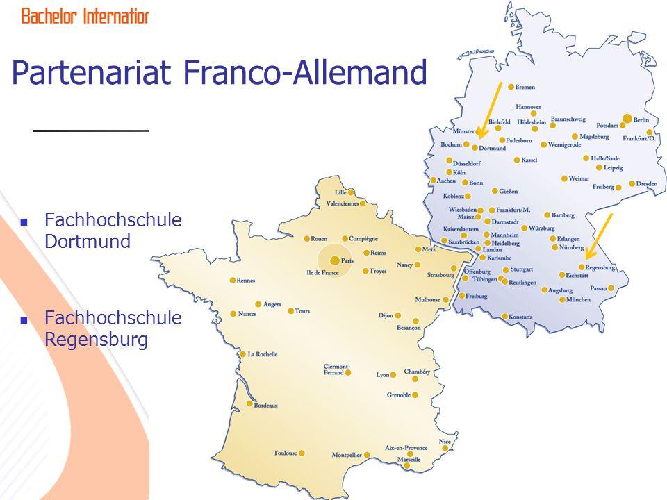 Partenariat Franco-Allemand Fachhochschule Dortmund Fachhochschule Regensburg