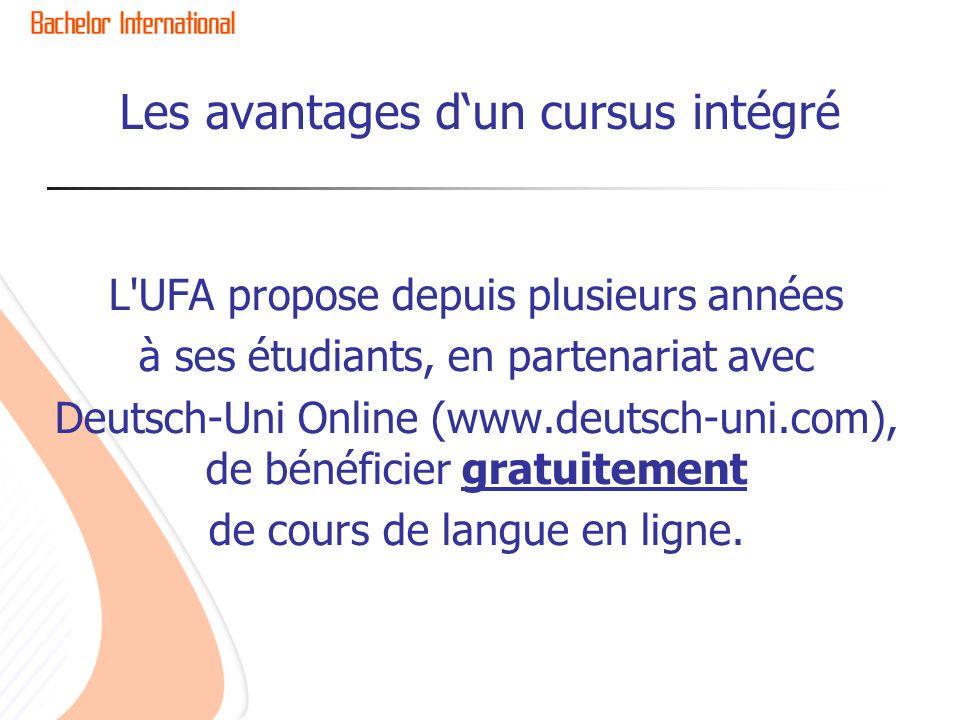 L'UFA propose depuis plusieurs années à ses étudiants, en partenariat avec Deutsch-Uni Online (www.deutsch-uni.com), de bénéficier gratuitement de cou