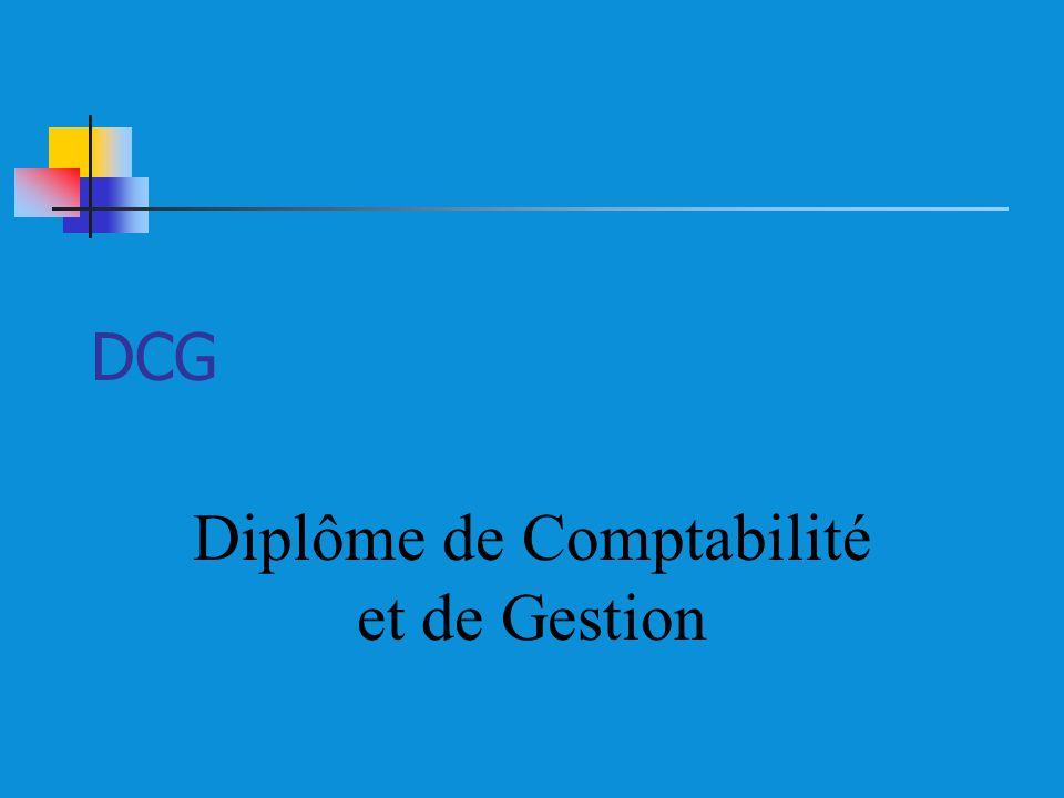 DCG Diplôme de Comptabilité et de Gestion