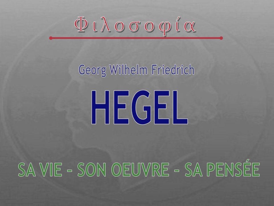 183114 novembre.Mort de Hegel à Berlin 177027 août.