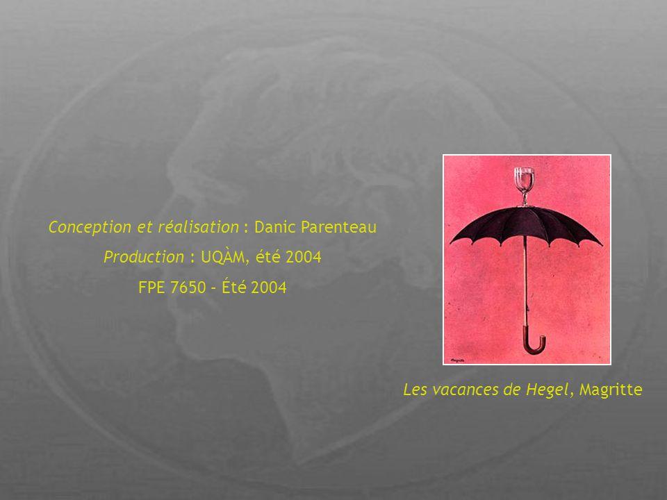 Les vacances de Hegel, Magritte Conception et réalisation : Danic Parenteau Production : UQÀM, été 2004 FPE 7650 – Été 2004