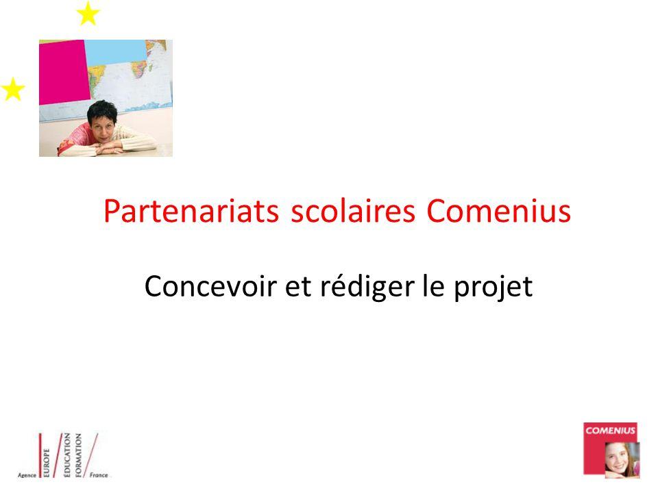 Partenariats scolaires Comenius Concevoir et rédiger le projet