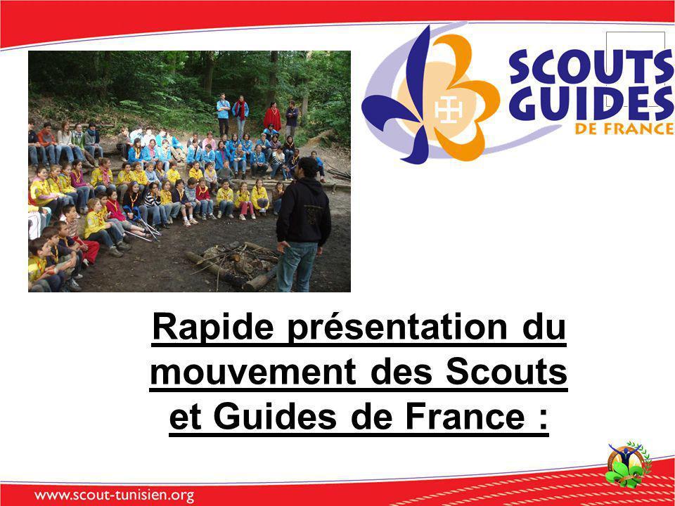 Rapide présentation du mouvement des Scouts et Guides de France :