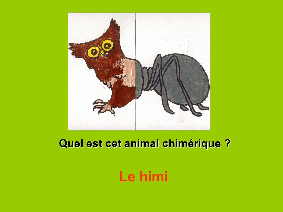 Quel est cet animal chimérique ? Le himi