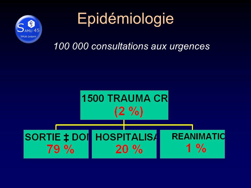 Epidémiologie 100 000 consultations aux urgences