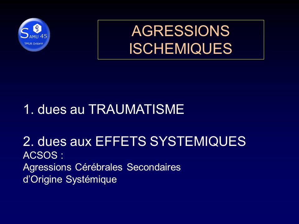 AGRESSIONS ISCHEMIQUES 1.dues au TRAUMATISME 2.