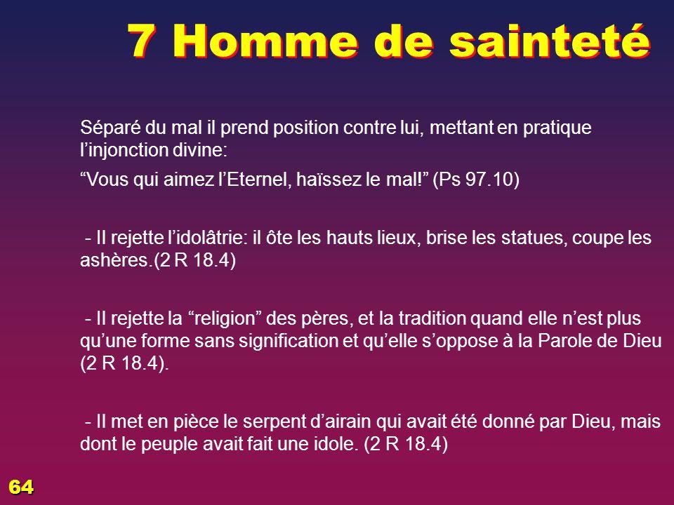 Hommes de sainteté .