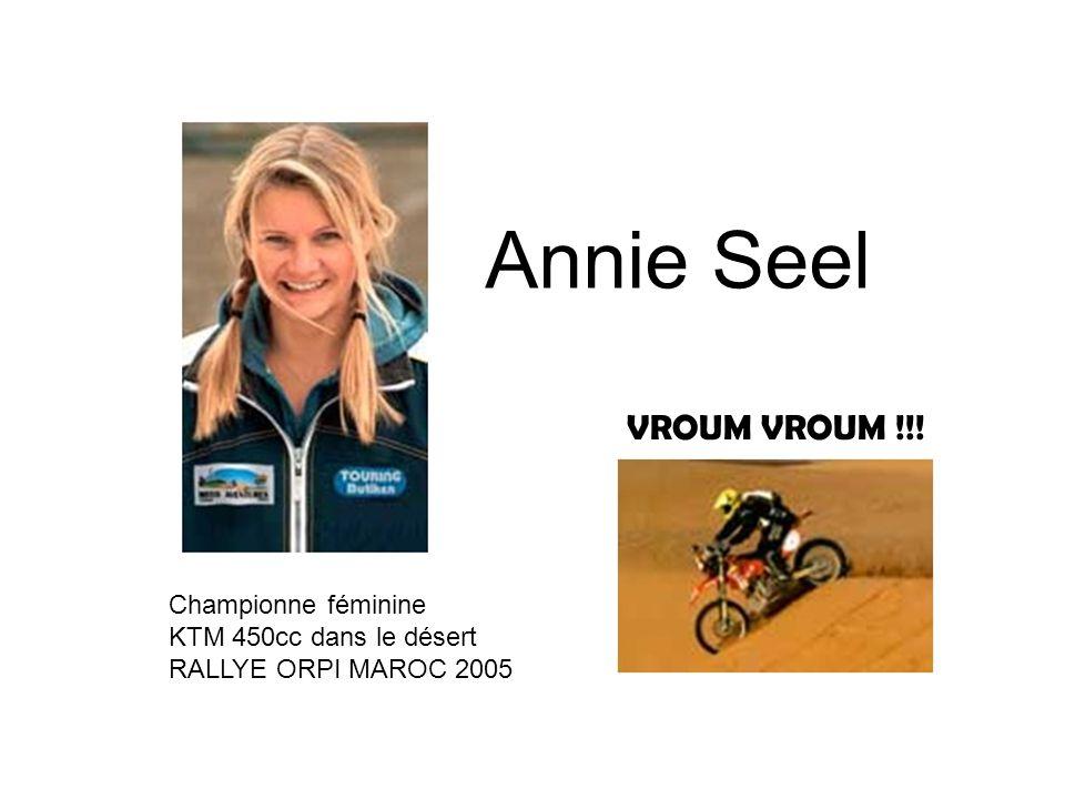 Annie Seel Championne féminine KTM 450cc dans le désert RALLYE ORPI MAROC 2005 VROUM VROUM !!!
