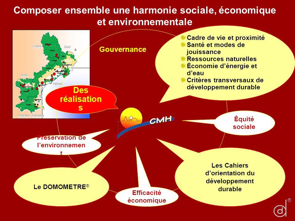 Composer ensemble une harmonie sociale, économique et environnementale St Genie s de Malg oire ® Gouvernance Équité sociale Efficacité économique Prés