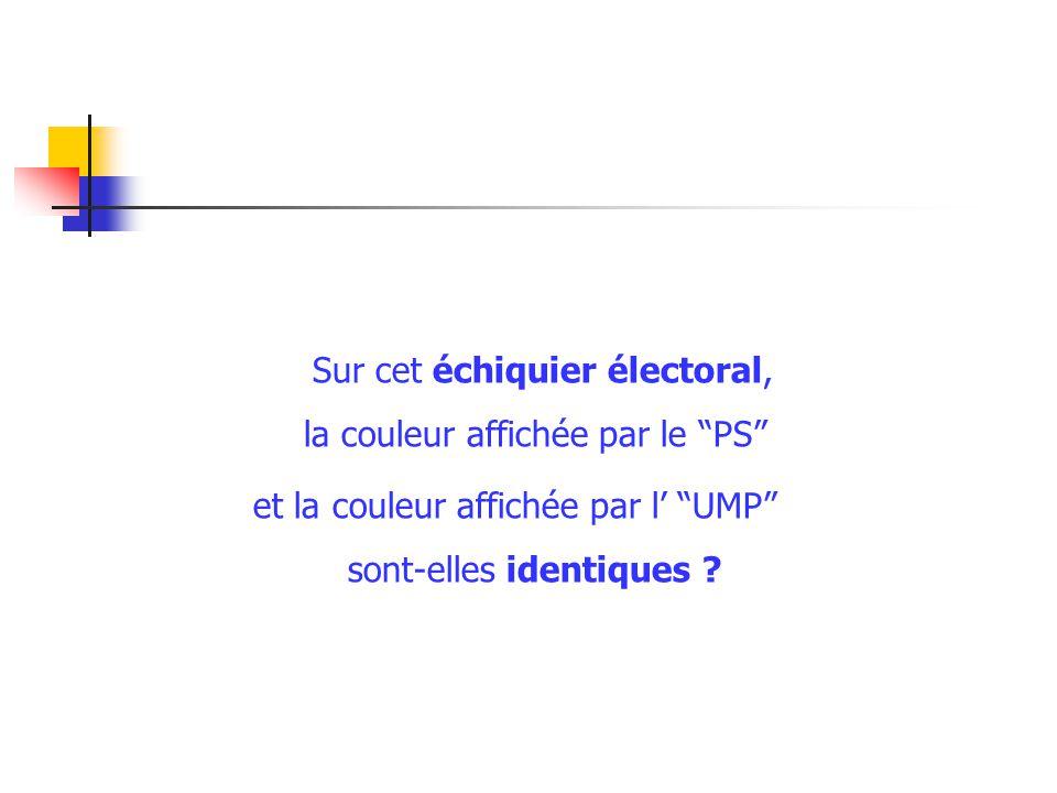 Sur cet échiquier électoral, la couleur affichée par le PS et la couleur affichée par l UMP sont-elles identiques
