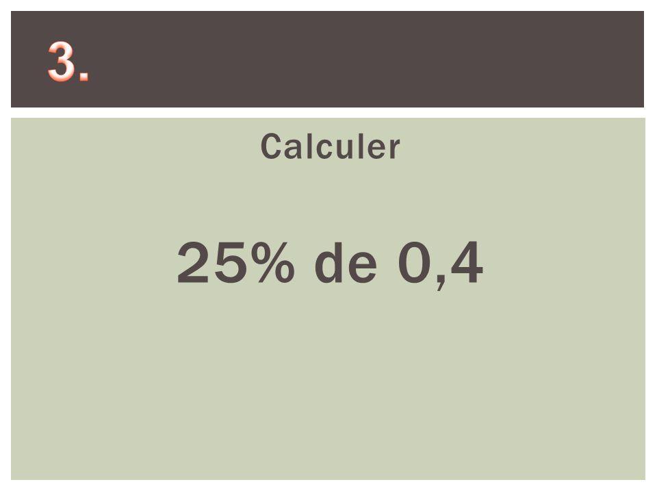Calculer 25% de 1000
