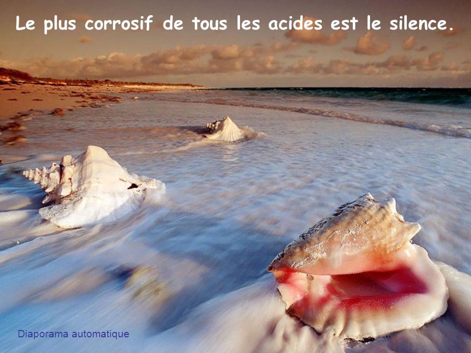 Le plus corrosif de tous les acides est le silence. Diaporama automatique