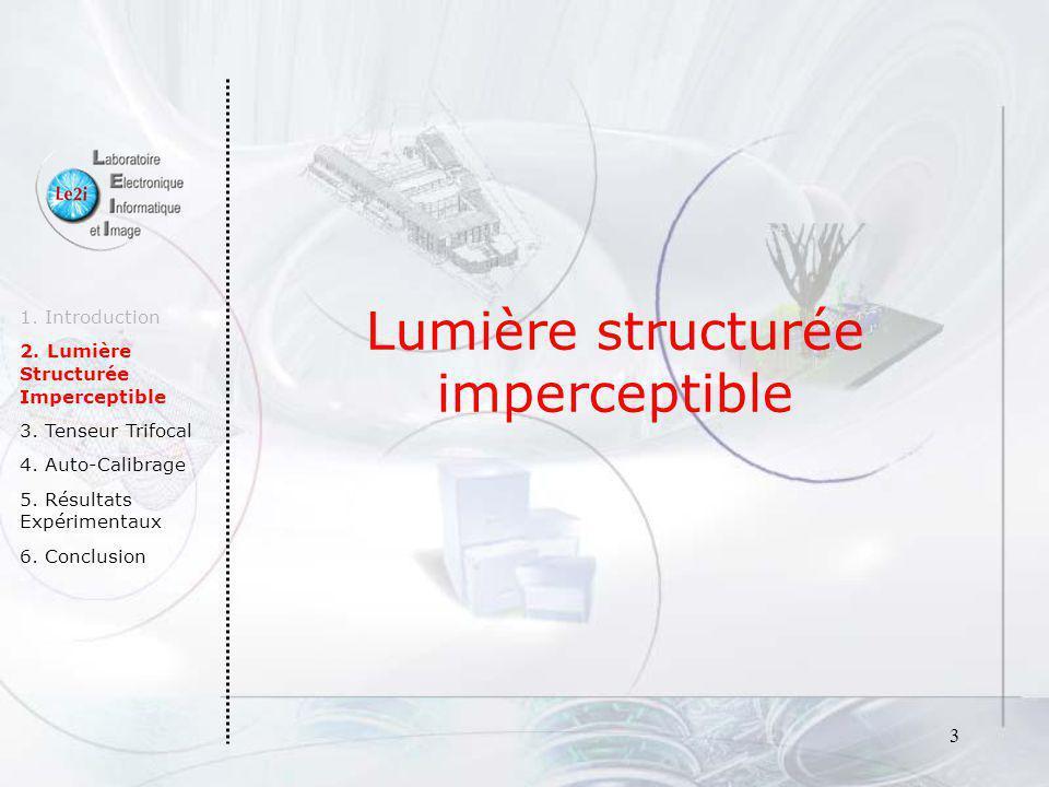 4 1.Introduction 2. Lumière Structurée Imperceptible 3.