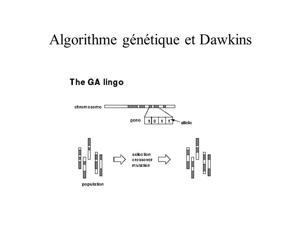 Algorithme génétique et Dawkins