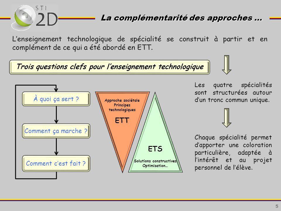 5 La complémentarité des approches … La complémentarité des approches … À quoi ça sert .