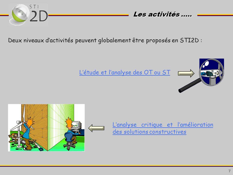 17 Lenseignement technologique en STI2D est fréquemment dispensé par deux enseignants de disciplines technologiques complémentaires.