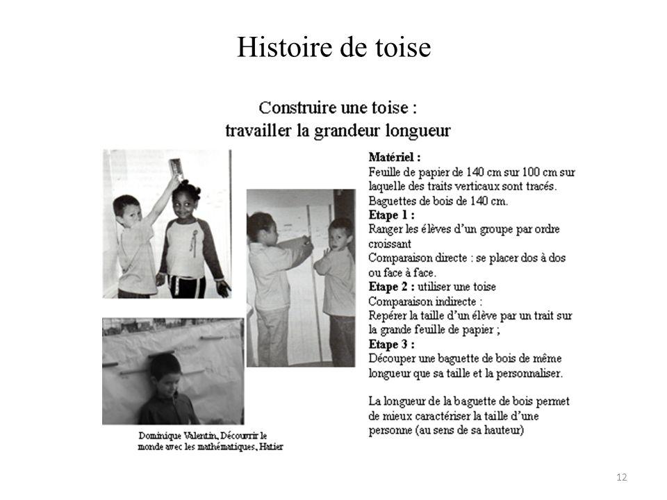 Histoire de toise 12
