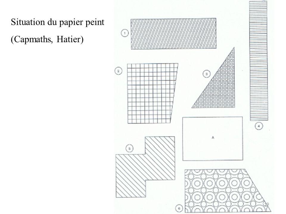 Situation du papier peint (Capmaths, Hatier) 19