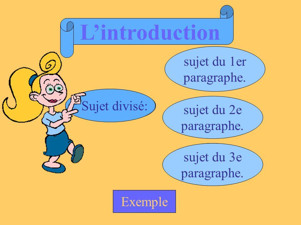 texte Sujet amené: Sujet posé: Sujet divisé: auteur contexte thème général procédé dominant évolution du texte sujet du 1er paragraphe.