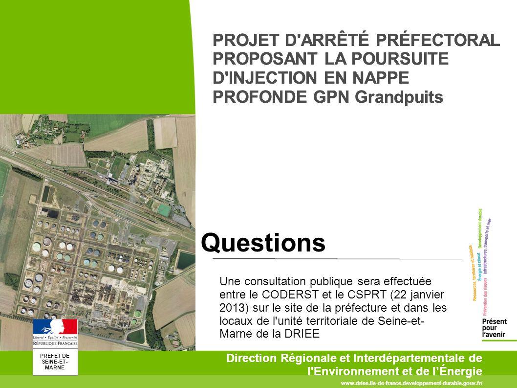 PREFET DE SEINE-ET- MARNE www.driee.ile-de-france.developpement-durable.gouv.fr/ Direction Régionale et Interdépartementale de l'Environnement et de l