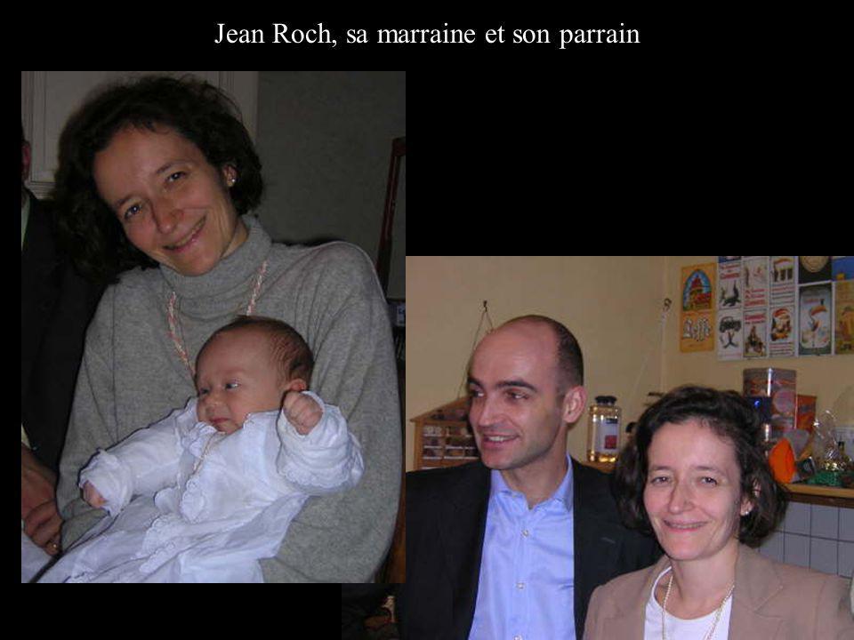 Jean Roch, sa marraine et son parrain