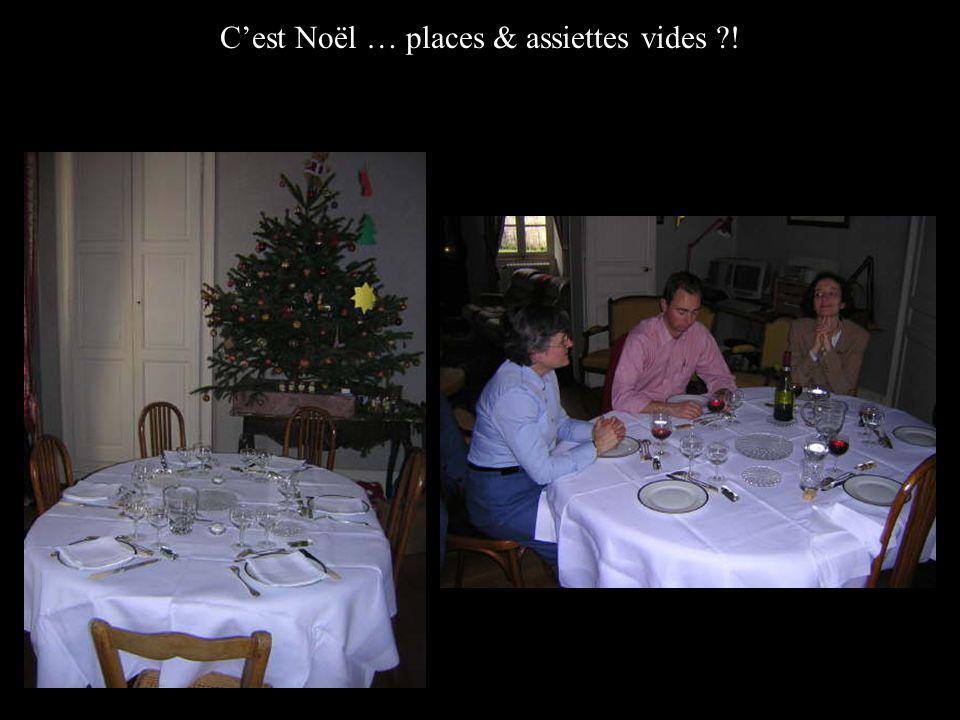 Cest Noël … places & assiettes vides !