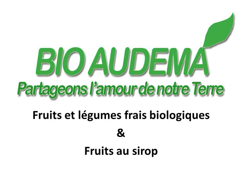 Bio Audema (Logo) Fruits et légumes frais biologiques & Fruits au sirop