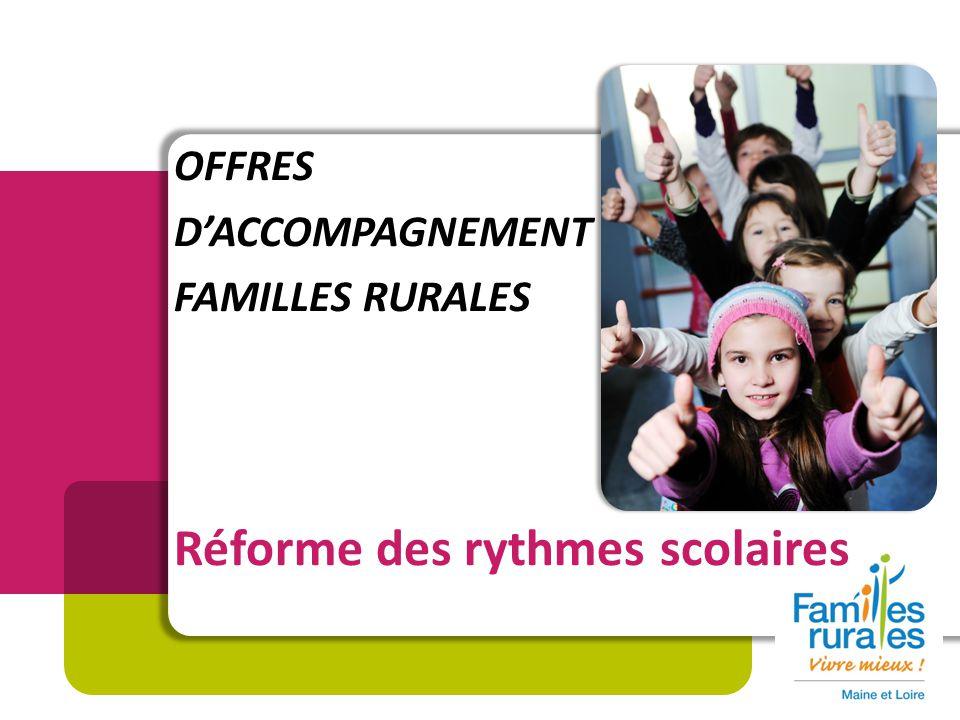 OFFRES DACCOMPAGNEMENT FAMILLES RURALES Réforme des rythmes scolaires