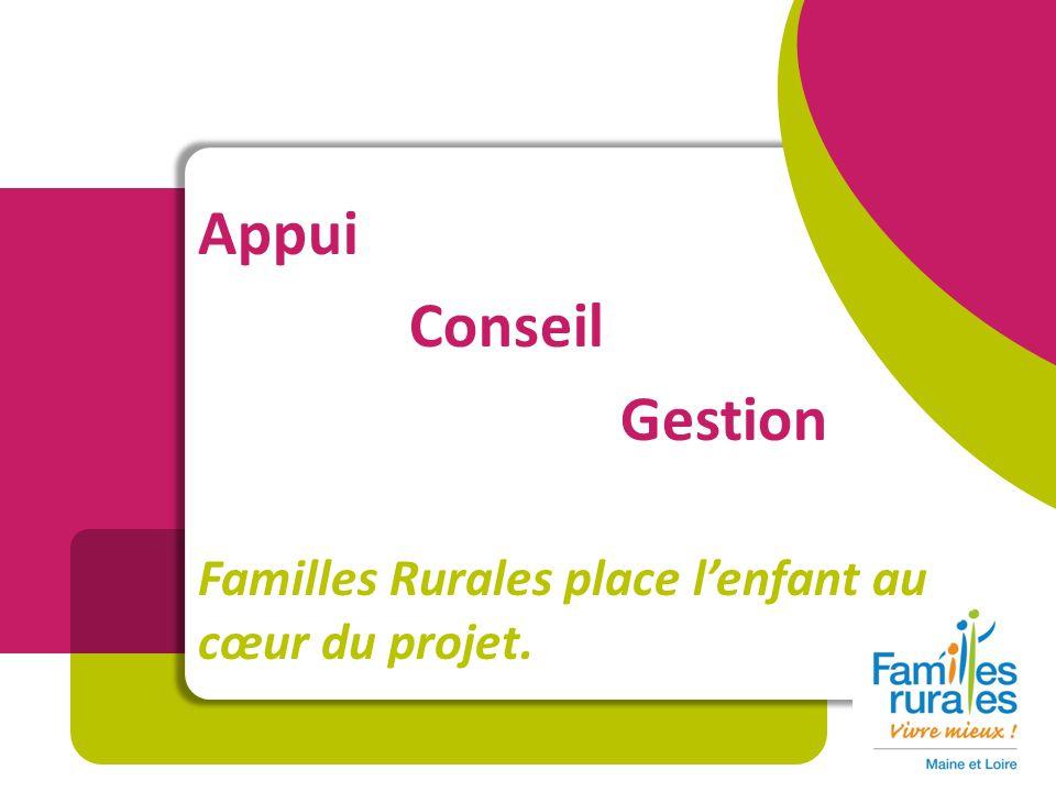 Appui Conseil Gestion Familles Rurales place lenfant au cœur du projet.