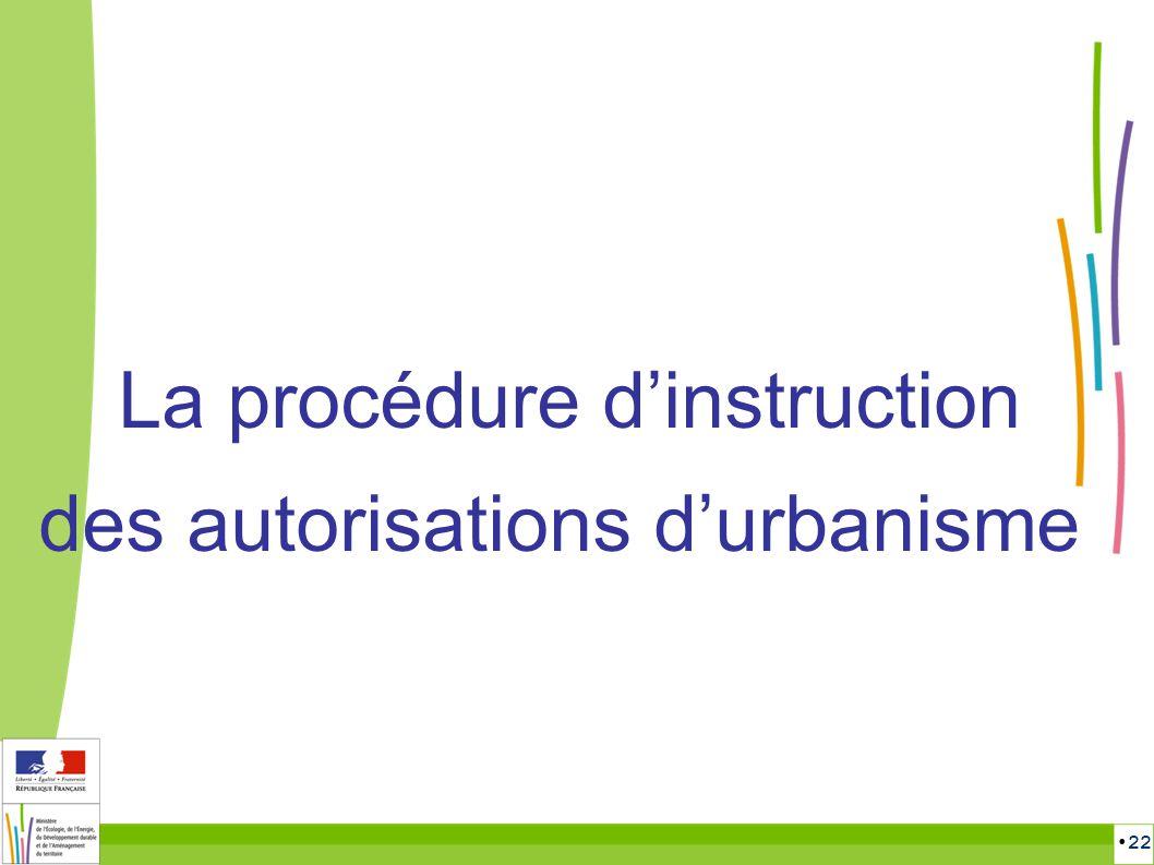 22 La procédure dinstruction des autorisations durbanisme