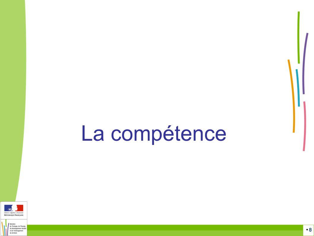 8 La compétence