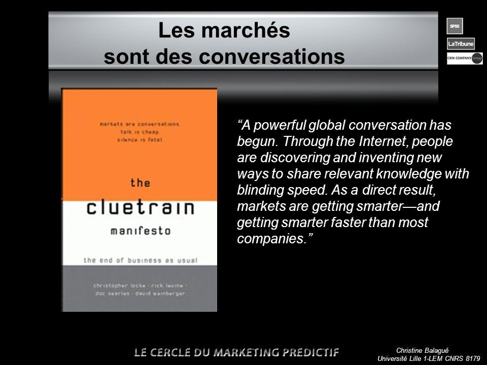 Christine Balagué Université Lille 1-LEM CNRS 8179 Les marchés sont des conversations A powerful global conversation has begun.